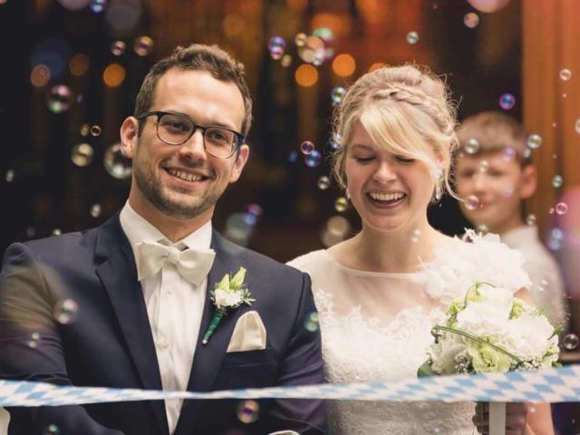 Hochzeitsfotografie in München mit Johanna und Simon. Foto: Stephan Benz