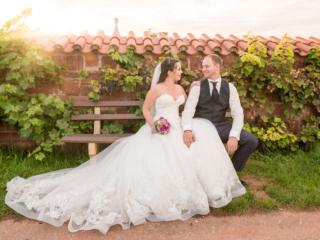 Hochzeitsfotografie am roten Hang in Nierstein mit Janine und Martin. Foto: Stephan Benz